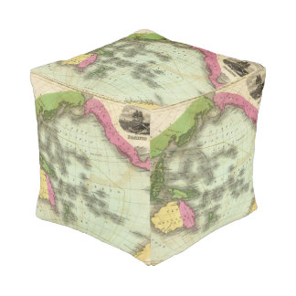 Pacific Ocean 6 Cube Pouf