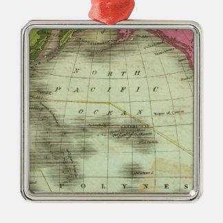 Pacific Ocean 6 Metal Ornament
