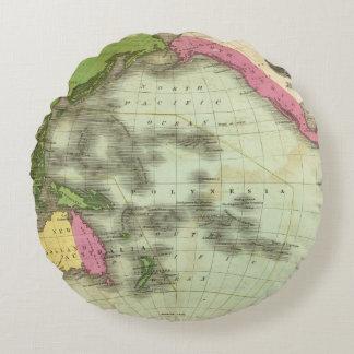 Pacific Ocean 6 Round Pillow