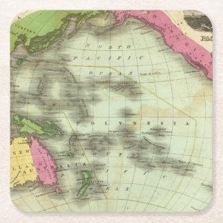 Pacific Ocean 6 Square Paper Coaster
