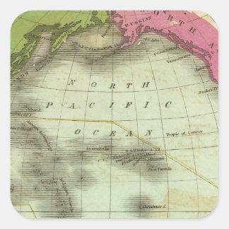 Pacific Ocean 6 Square Sticker