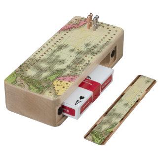 Pacific Ocean 6 Wood Cribbage Board