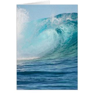 Pacific ocean big wave breaking greeting card