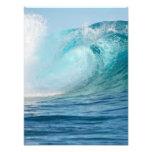 Pacific ocean big wave breaking photo print