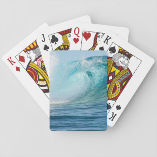 Pacific ocean big wave breaking playing cards