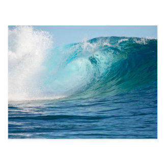 Pacific ocean big wave breaking postcard