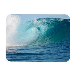 Pacific ocean big wave breaking rectangular magnet