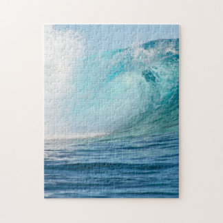 Pacific ocean big wave breaking vertical puzzle