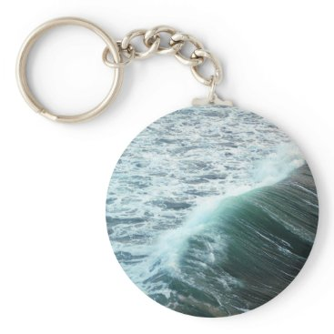 Beach Themed Pacific Ocean Blue Keychain