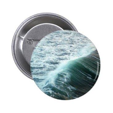 Beach Themed Pacific Ocean Blue Pinback Button