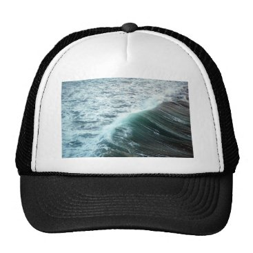 Beach Themed Pacific Ocean Blue Trucker Hat