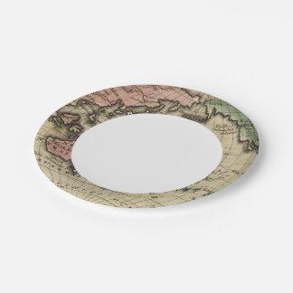 Pacific Ocean, British Islands 7 Inch Paper Plate