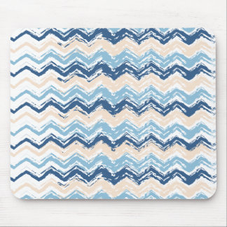 Pacific Ocean Chevron Pattern Mouse Pad