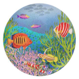 Pacific Ocean Coral Reef Plate