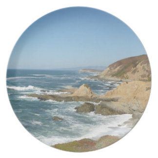 Pacific Ocean from Bodega Bay, CA Plate