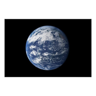 Pacific Ocean From Space Poster