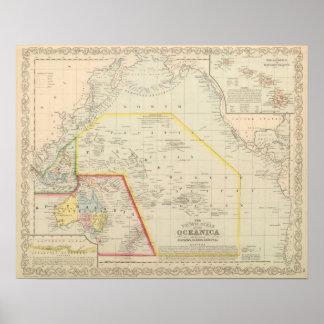 Pacific Ocean including Oceania Poster