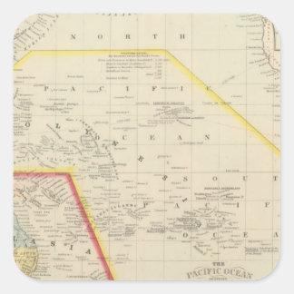 Pacific Ocean including Oceania Square Sticker