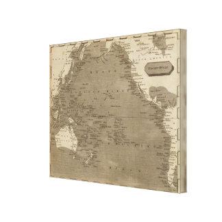 Pacific Ocean Map by Arrowsmith Canvas Print