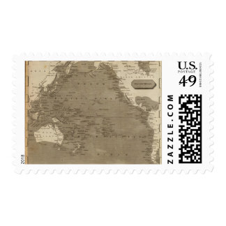 Pacific Ocean Map by Arrowsmith Postage Stamp