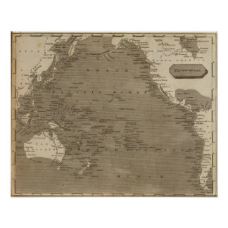 Pacific Ocean Map by Arrowsmith Poster
