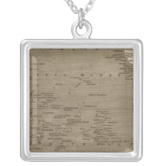 Pacific Ocean Map by Arrowsmith Silver Plated Necklace