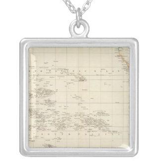 Pacific Ocean Square Pendant Necklace