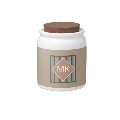 Pacific Ocean Stripes Candy Jars
