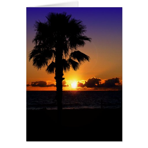 Pacific Ocean Sunset Card