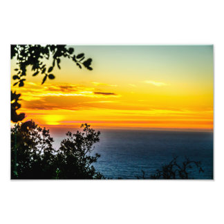 Pacific Ocean Sunset Art Photo