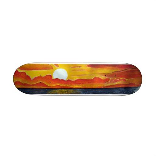 Pacific Ocean sunset seascape surf skateboard deck