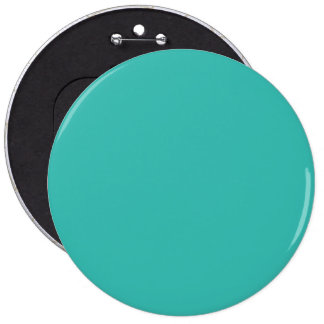 Pacific Ocean Turquoise Blue Solid Color Button