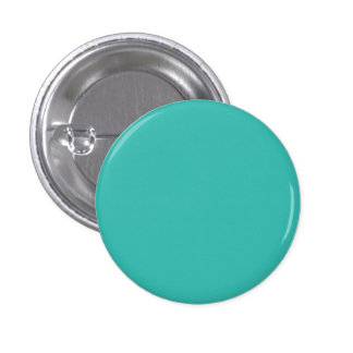 Pacific Ocean Turquoise Blue Solid Color Pinback Button
