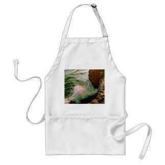 PACIFIC OCEAN WAVES BREAKING OF THE ROCKY COAST ADULT APRON