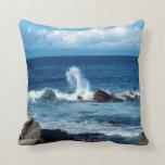 Pacific Ocean Waves Pillow