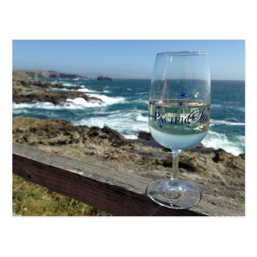 Pacific Ocean Wine Tasting Postcard