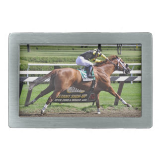 Pacific Ocean winning the James Marvin Stakes Rectangular Belt Buckles