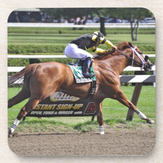 Pacific Ocean winning the James Marvin Stakes Drink Coaster