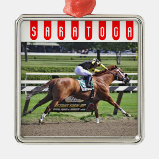Pacific Ocean winning the James Marvin Stakes Metal Ornament