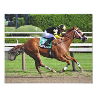 Pacific Ocean winning the James Marvin Stakes Photo Print