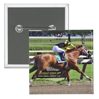Pacific Ocean winning the James Marvin Stakes Pinback Button