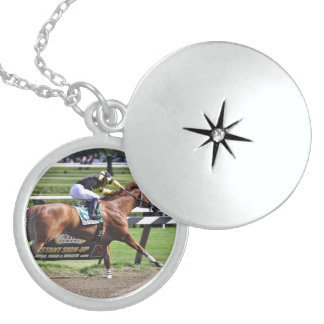 Pacific Ocean winning the James Marvin Stakes Sterling Silver Necklace