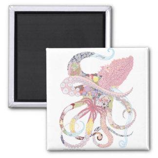 Pacific Octopus Habitat 2 Inch Square Magnet