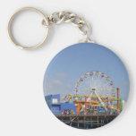 Pacific Park Ferris Wheel Basic Round Button Keychain