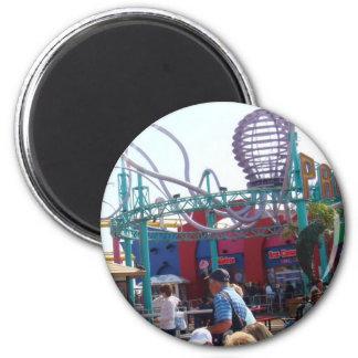 Pacific Park @ Santa Monica Pier 2 Inch Round Magnet