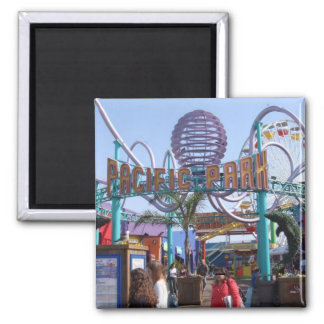 Pacific Park @ Santa Monica Pier 2 Inch Square Magnet
