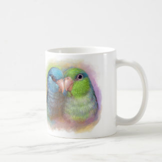 Pacific parrotlet parrot realistic painting classic white coffee mug