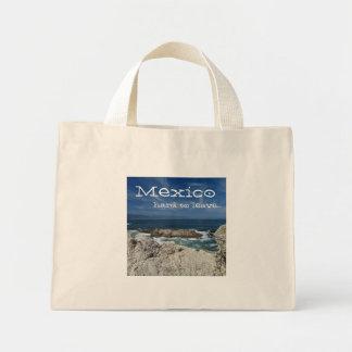 Pacific Peek; Mexico Souvenir Mini Tote Bag