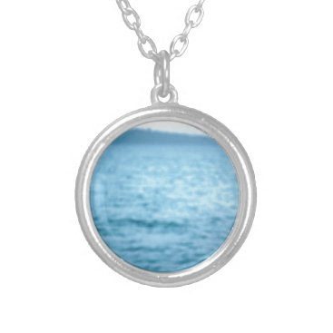 Beach Themed pacific pelican silver plated necklace