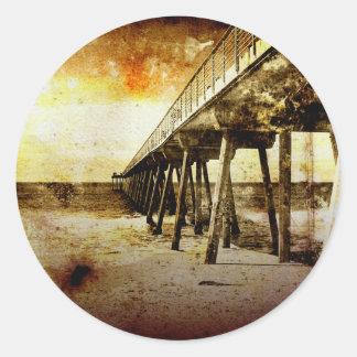 Pacific Pier Classic Round Sticker